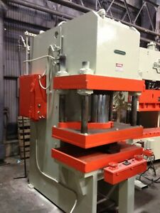 200 Ton Greenerd C Frame Hydraulic Press 18 Stroke 30 Daylight 51 X 30 Bed S