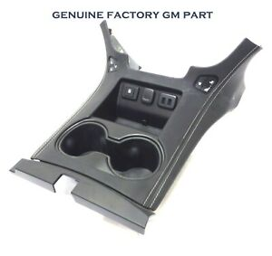 Front Floor Center Console Cup Holder Black Leather W Heated Cooled Seat Opt