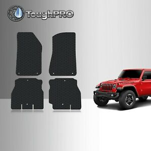 Toughpro Floor Mats Black For Jeep Wrangler Unlimited Jl All Weather 2018