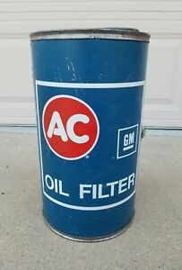 Vintage Ac Delco Oil Filter Charcoal Grill Promo Chevelle Camaro Ls6 Yenko Nos