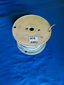 Used Mtw tew White With Blue Stripe Wire 16awg 600v