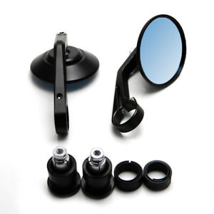 Motorcycle Cnc Aluminum Universal 7 8 22mm Handle Bar End Rearview Side Mirror