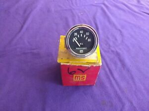 Vintage Nos Stewart Warner Oil Pressure Gauge Hot Rod 6 Volt