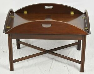 Kittinger Mahogany Butler Table Coffee Table Cocktail Table Williamsburg Style
