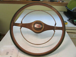 Very Rare Double Butterfly Chevrolet 17 Steering Wheel With Bow Tie