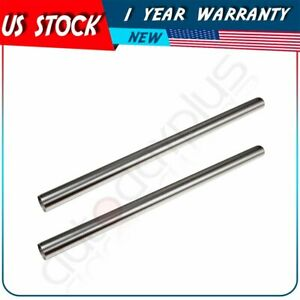 2x 3 Inch Od 5 Feet Long Stainless Steel Straight Exhaust Pipes Tube 5ft