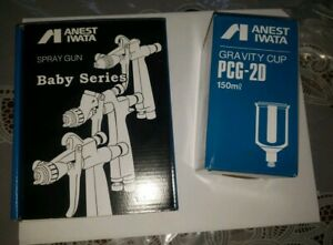 Anest Iwata Lph80 104g Mini Gravity Feed Spray Gun With Cup Lph 80 104g New