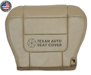 2001 2002 Ford F150 Lariat Super Crew Passenger Bottom Leather Seat Cover Tan