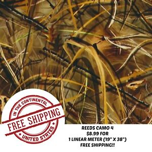 Hydrographic Water Transfer Hydrodipping Film Hydro Dip Reeds Camo 4
