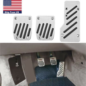 3x Manual Gear Transmission Pedal Pad Car Gas Brake Clutch Metal Non Slip Cover
