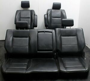 2008 Nissan Titan Front Back Rear Seat Leather Power Interior Black Drivers Side