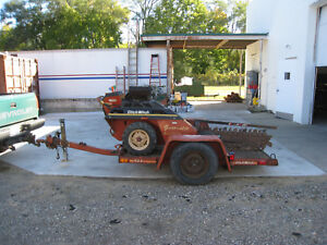 2006 Ditch Witch 1820h Walk Behind Trencher W Ditch Witch S2a Trailer 1820 Used
