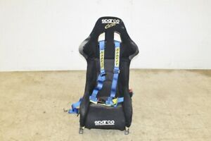 Jdm Sparco Corsa Racing Bucket Seat Non Reclinable With Sabelt Harness Gd Rail