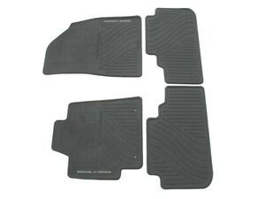 08 09 10 11 12 13 Toyota Highlander Black Rubber Floor Mats Rugs All Weather Set