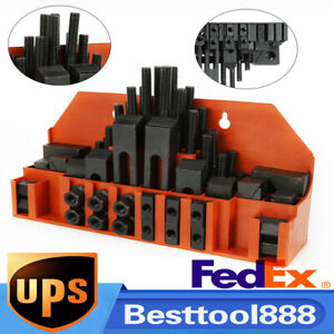 Clamp Clamping Bolt M12 T Nut Hold Down Tool For Metal Milling Machine 58 Pcs