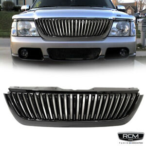 For 2002 2005 Ford Explorer Front Grill Gloss Black Vertical Grille