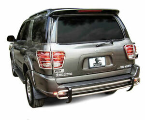 Black Horse Rear Bumper Guard Fits 2001 2007 Toyota Sequoia Stainless Steel