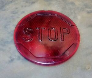 Vintage Car Tail Light Lens Stop Red Glass 4 1 8 Old Car Truck