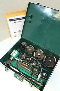 Greenlee 7310sb Hydraulic Knockout Punch Set W Extra Studs 100 Tested