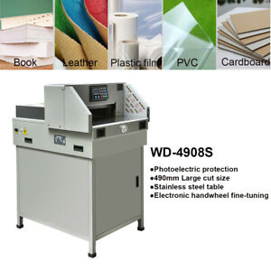 New 19 3 Electric Paper Guillotine Cutter Stack Cutting Machine Stainless Steel