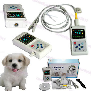 Contec Veterinary Vet Pulse Oximeter Spo2 Heart Rate Monitor Tongue Probe Pc Sw