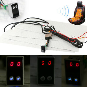 Carbon Fiber Universal Heated Seat Heater Digital 5 gear Switch Kit For 2 Seats