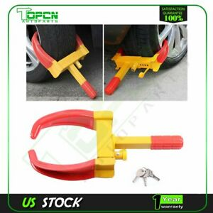 Wheel Lock Clamp Boot Tire Claw Trailer Auto Car Truck Anti Theft Towing Parking