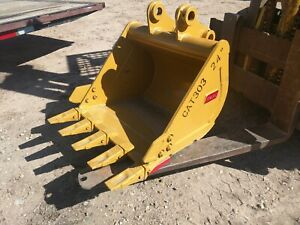 New Caterpillar 303 Mini Excavator 24 Digging Bucket Emaq Teran 24 Inch Cat