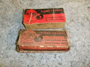 Vintage All Power Cylinder Bore Ridge Reamers X2