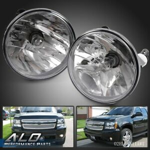 Pair Fog Lights For 2007 2014 Chevy Tahoe Avalanche Suburban Gmc With Bulbs