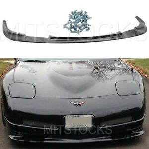 Fits 97 04 Corvette C5 Zr1 Style Add On Front Bumper Lip Spoiler Chin Pu