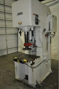 50 Ton Denison Hydraulic Press 15 Stroke 32 Daylight 6 Cylinder Bore 4 25 Ra