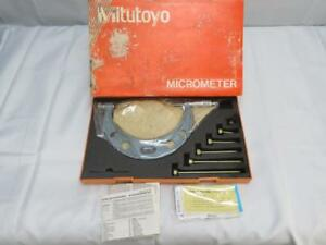 Mitutoyo 104 137 0 6 X 001 Interchangeable Anvil Outside Micrometer Set