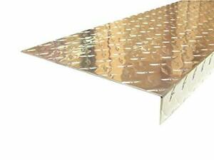 Aluminum Diamond Plate Angle 062 X 1 5 X 10 88 X 48 In Staircase Cover