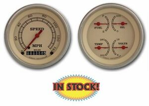Classic Instruments Vt02slc Vintage 2 Gauge Set 3 3 8 Speedo Quad Slc