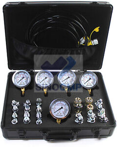 5 Gauge 24 Couplings Hydraulic Pressure Test Kit Quick Connector For Cat Komatsu