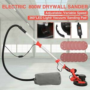 800w Electric Drywall Sander Adjustable 6 Speed With Vacuum System Light Bar