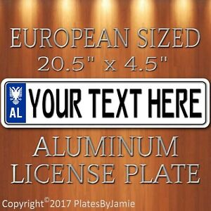 Albania European Sized Style License Plate Tag Any Text Customizable Albanian