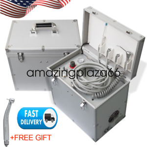 Us Ship Dental Portable Delivery Unit three Way Syringe suction System gift Ce