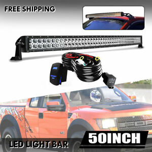 50inch Roof Led Light Bar 288w Combo Spot Flood Fog For Truck Ford Ute C1h