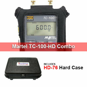 Martel Tc100 hd Precision Thermocouple Calibrator With Multipurpose Hard Case