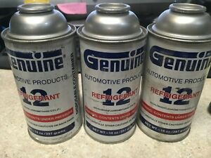 3 Pack R 12 Refrigerant Genuine Freon 3 14oz R12 Sercon Cans Sealed New