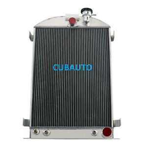 3row Radiator For 1930 1938 1937 1936 35 Ford Model A Chevy Engine Grille Shells
