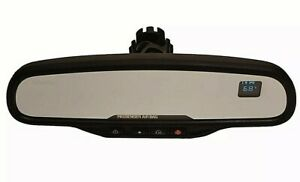 03 06 Gmc Chevy 6973 Rear View Mirror Oem Dim Dual Compass Temp Onstar 15176973