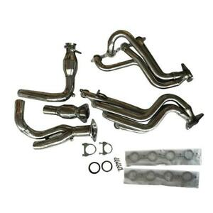 1 7 8 Long Tube Exhaust Header Y Pipe Kit Fit 99 06 Chevy Gmc Pickup Truck Suv