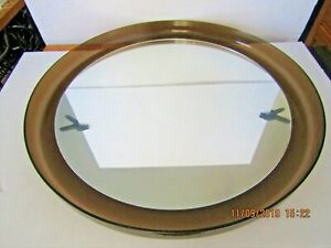 1 Vtg Mcm Retro Lucite Plastic Framed Round Mirror 22 D Wall Hanging Excellent