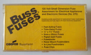 Buss Fuses Small Dimension Fuse Assortment Kit No 270 Not Complete