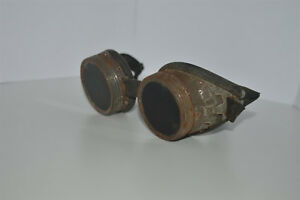 Welding Safety Goggles Steampunk Motorcycle Aviator Vintage Glasses Wwii