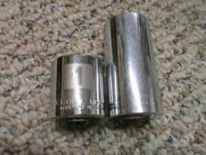 Craftsman 1 Inch 3 8 Drive Deep And Short Sockets