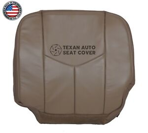 2003 2007 Chevy Silverado 1500hd Driver Bottom Synthetic Leather Seat Cover Tan